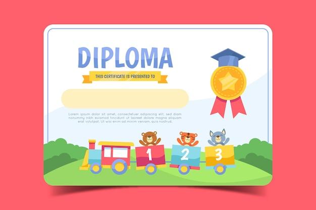 Modello per diploma per bambini