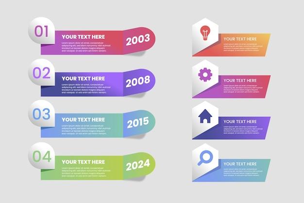 Modello per infografica gradiente