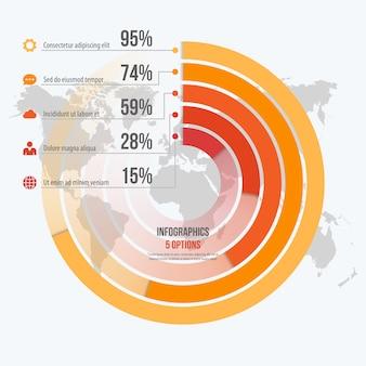 Modello per infografica informativa cerchio