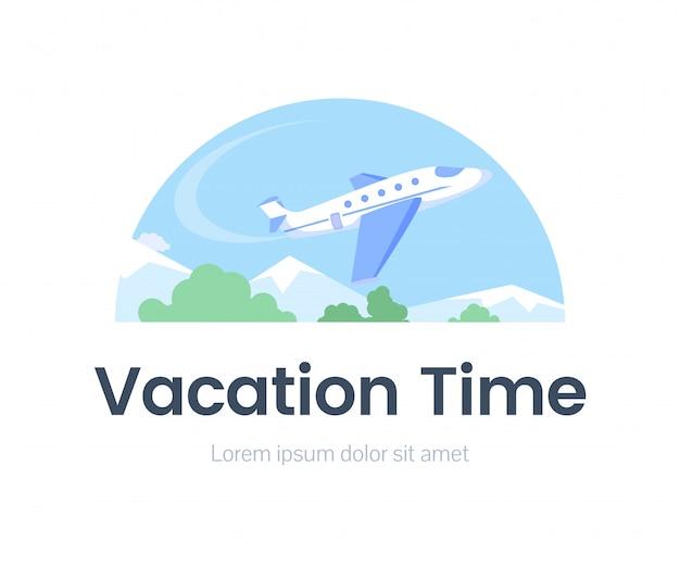 Modello piatto di banner web tempo di vacanza