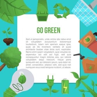 Modello piatto ecologia