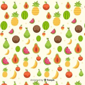 Modello piatto frutti tropicali