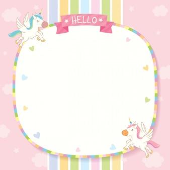 Modello pinkk unicorno