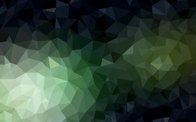 Modello poligonale verde scuro.
