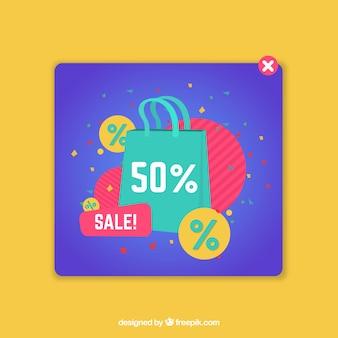 Modello pop-up di promozione con design piatto