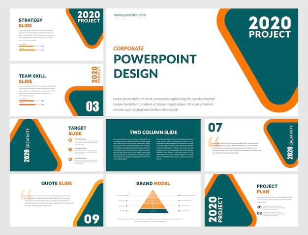 Modello powerpoint - arancione blu