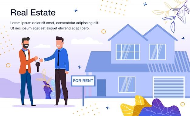 Modello promozionale per il servizio di affitto della casa