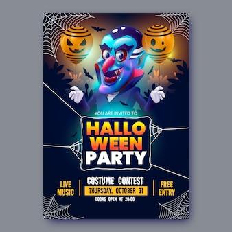 Modello realistico del manifesto del partito di halloween