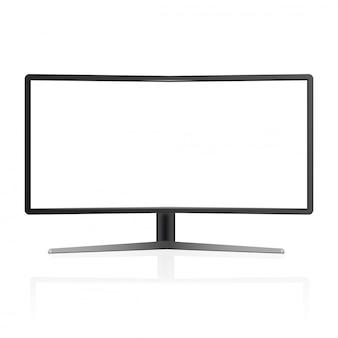 Modello realistico del monitor della tv isolato