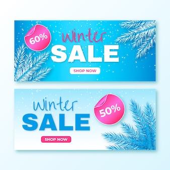 Modello realistico delle insegne di vendita di inverno