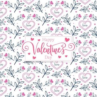 Modello romantico di san valentino cuori romantici svegli
