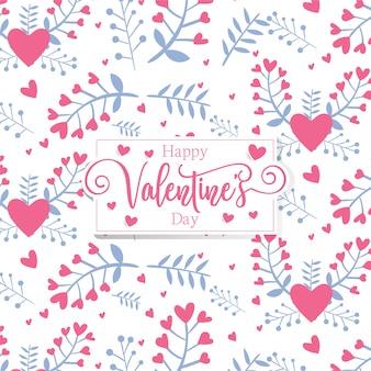 Modello romantico di san valentino cuori romantici
