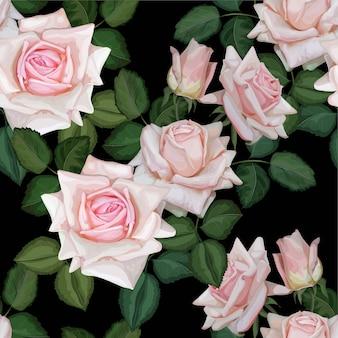 Modello rosa rosa senza soluzione di continuità