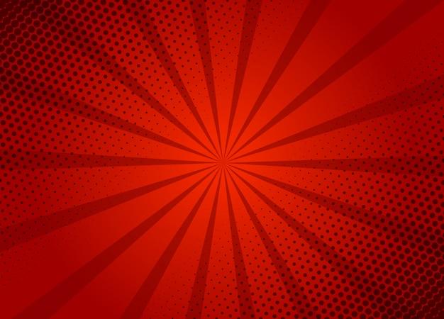 Modello rosso della disposizione del fondo del retro fumetto. fumetto tipico