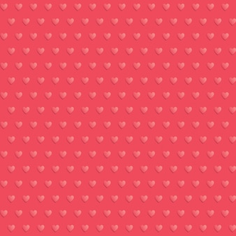 Modello rosso polka dot cuori senza soluzione di continuità