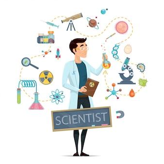 Modello rotondo di scienza