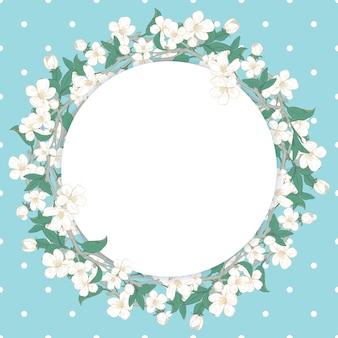 Modello rotondo fiore di ciliegio