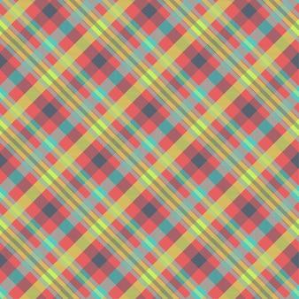 Modello scozzese multicolor senza cuciture