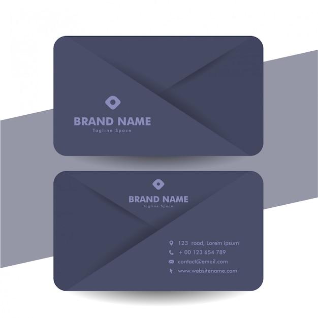 Modello semplice biglietto da visita elegante nero con design taglio carta
