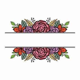 Modello semplice cornice floreale