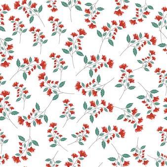 Modello senza cuciture astratto fiore rosso
