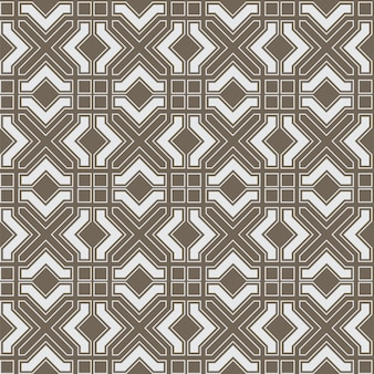 Modello senza cuciture astratto geometrico in stile arabo