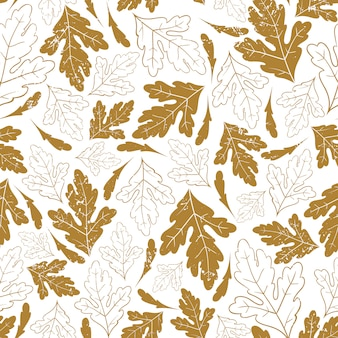 Modello senza cuciture autunnale con foglie d'autunno
