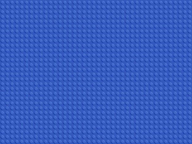 Modello senza cuciture blu costruttore di plastica.