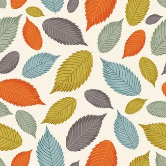 Modello senza cuciture con foglie colorate d'autunnali