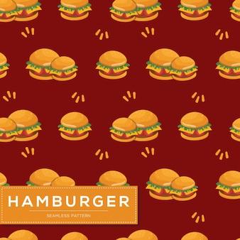 Modello senza cuciture con hamburger