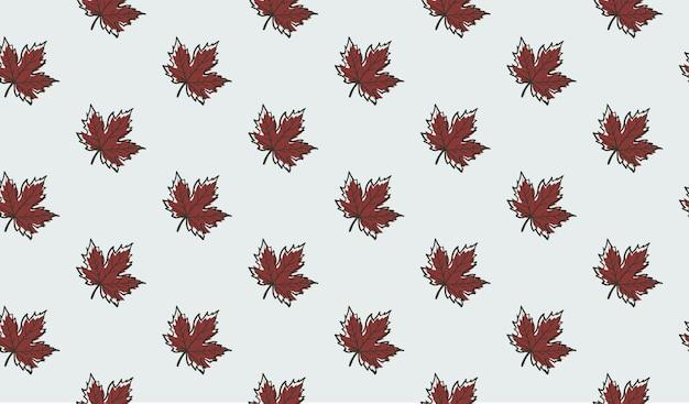 Modello senza cuciture con le foglie di acero di autunno