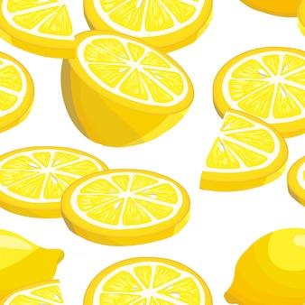 Modello senza cuciture con limoni a fette.