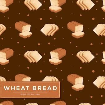 Modello senza cuciture con pane di frumento