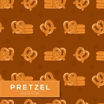 Modello senza cuciture con pane pretzel