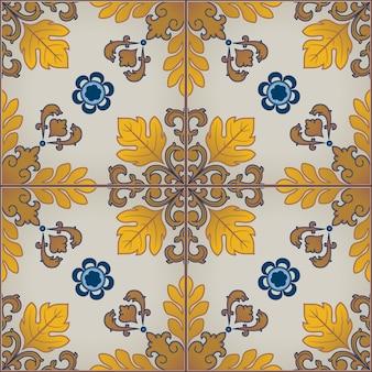 Modello senza cuciture con piastrelle portoghesi azulejo.