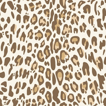 Modello senza cuciture con stampa leopardo naturale