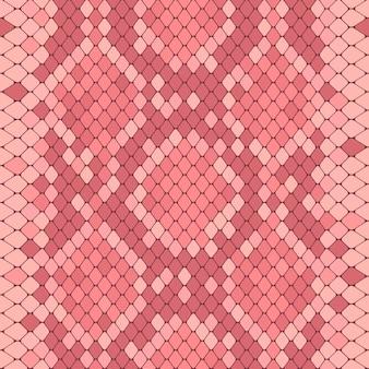 Modello senza cuciture con stampa pitone rosa