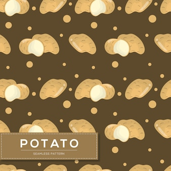 Modello senza cuciture con verdure di patate