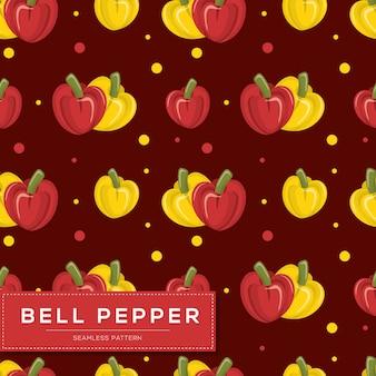 Modello senza cuciture con verdure peperone