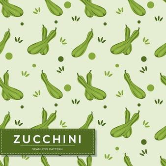 Modello senza cuciture con verdure zucchine