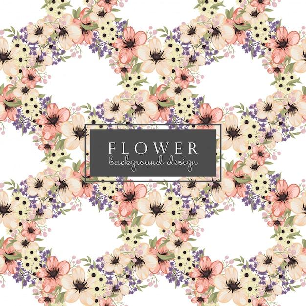 Modello senza cuciture dei fiori gialli di vettore floreale del fondo