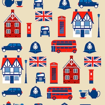 Modello senza cuciture dei simboli inglesi