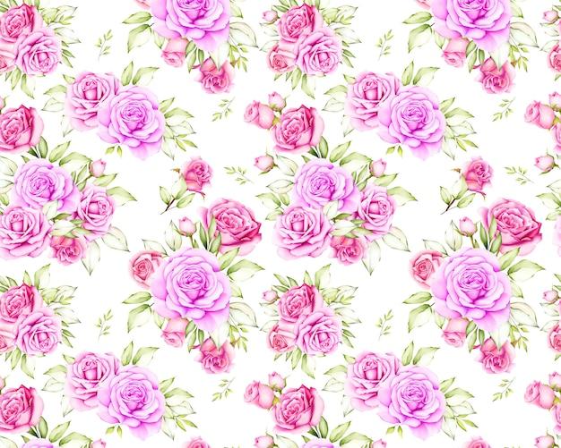 Modello senza cuciture del bello fiore della rosa
