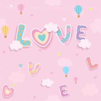 Modello senza cuciture del cielo rosa di amore