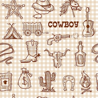 Modello senza cuciture del cowboy