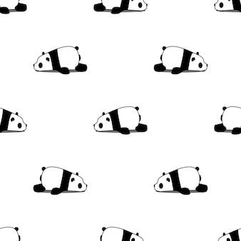 Modello senza cuciture del fumetto panda pigro