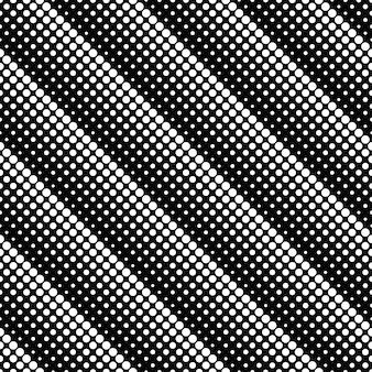 Modello senza cuciture del punto in bianco e nero astratto