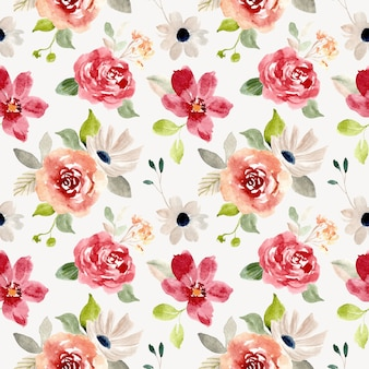 Modello senza cuciture dell'acquerello del bel fiore