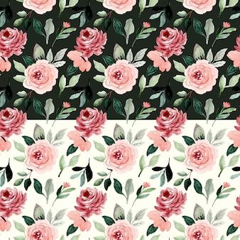 Modello senza cuciture dell'acquerello del bello fiore
