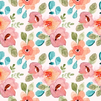 Modello senza cuciture dell'acquerello floreale verde rosa dolce